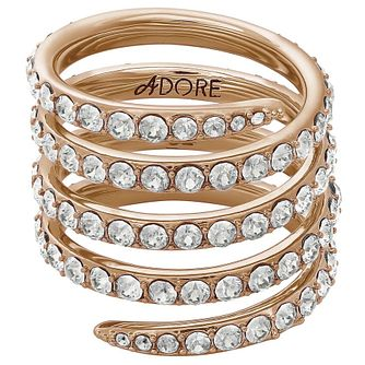 Adore Ladies' Rose Gold Plated Coil Ring Size Small - Product number 8921105