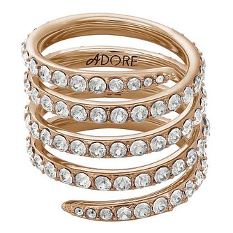 Adore Ladies' Rose Gold Plated Coil Ring Size Medium - Product number 8921113