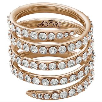 Adore Ladies' Rose Gold Plated Coil Ring Size Large - Product number 8921121