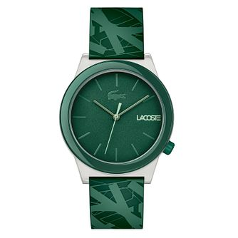 Lacoste Men's Green Silicone Strap Watch - Product number 8921679