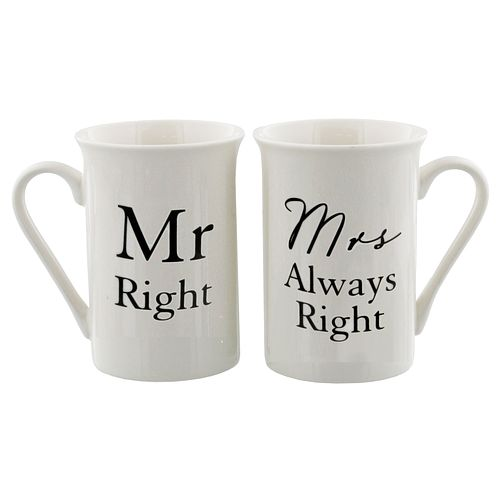Amore by Juliana Mr & Mrs Right Mug Set - Product number 8922195
