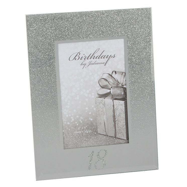 Birthdays by Juliana 18th Mirrored Photo Frame - Product number 8922241