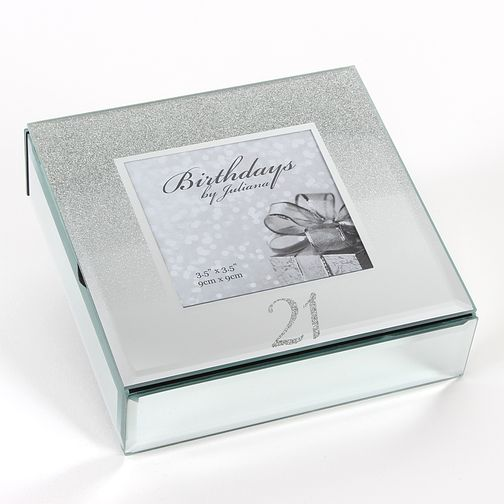 Birthdays by Juliana 21st Mirrored Trinket Box - Product number 8922284