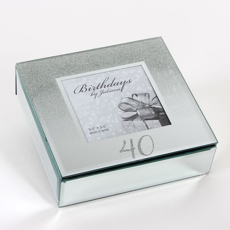 Birthdays by Juliana 40th Mirrored Trinket Box - Product number 8922292
