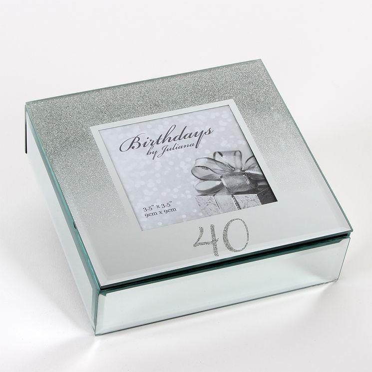 Birthdays by Juliana 40th Mirrored Trinket Box