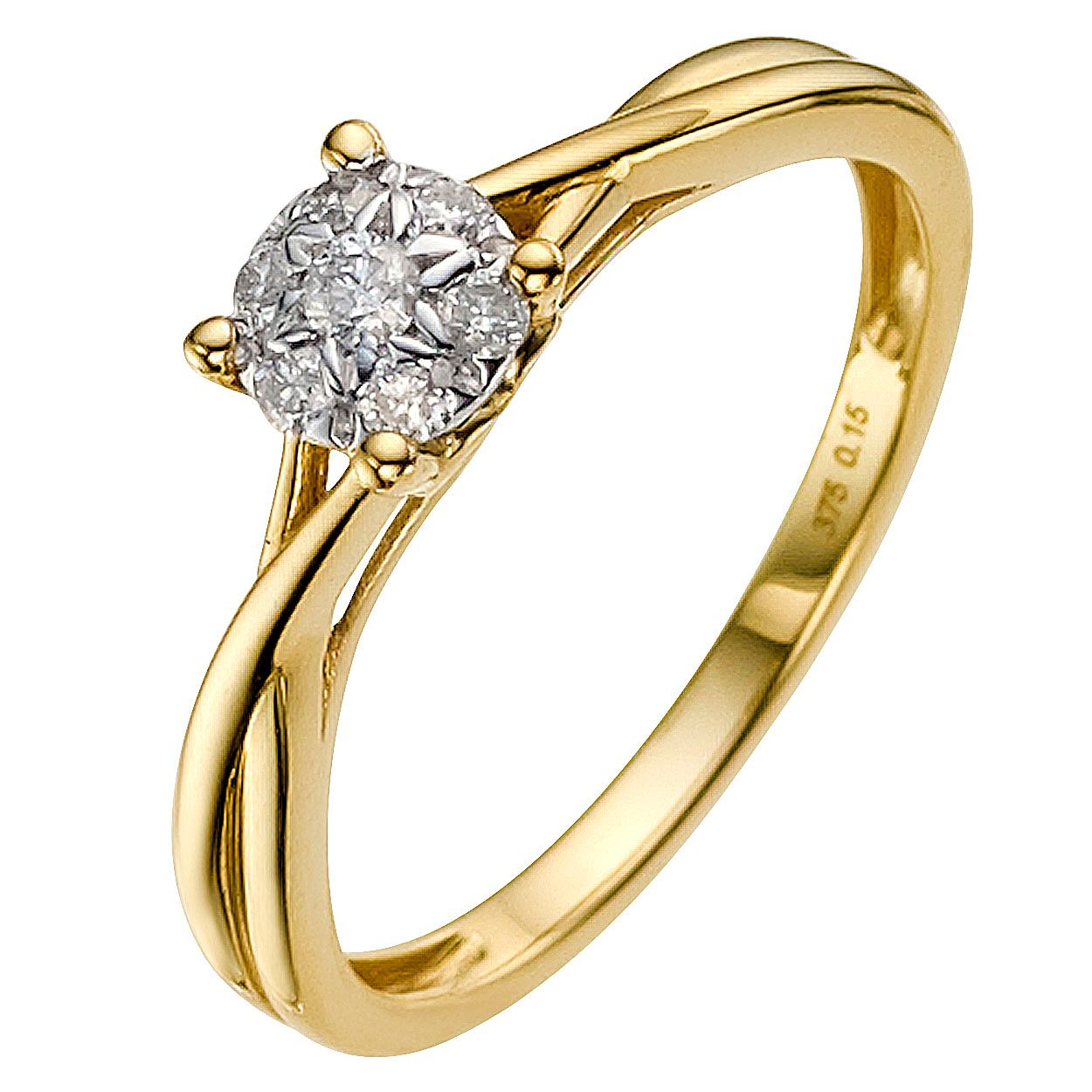 diamonds karat carat of product round yellow weight shape gold halo ring total engagement with side diamond