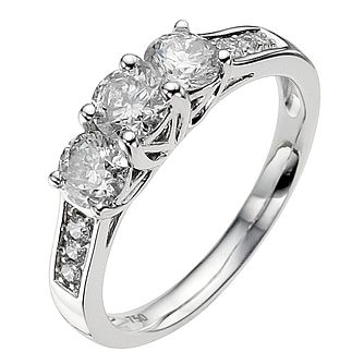18ct white gold 0.50ct diamond ring - Product number 8935785