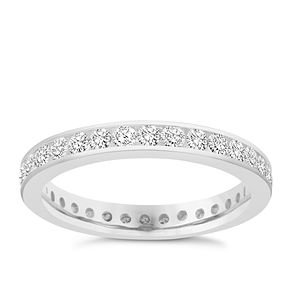 18ct white gold 1 carat diamond eternity ring - Product number 8938032