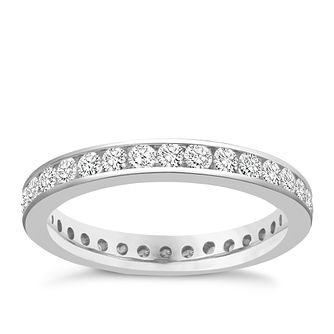 Platinum 1 carat diamond eternity ring - Product number 8938555