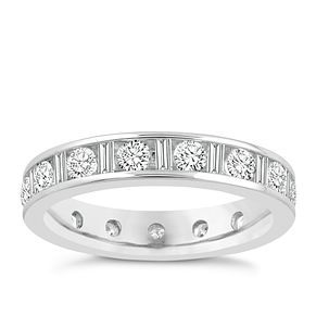 18ct white gold 1.50ct diamond eternity ring - Product number 8938822