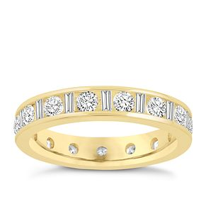 18ct yellow gold 1.50ct diamond eternity ring - Product number 8938962