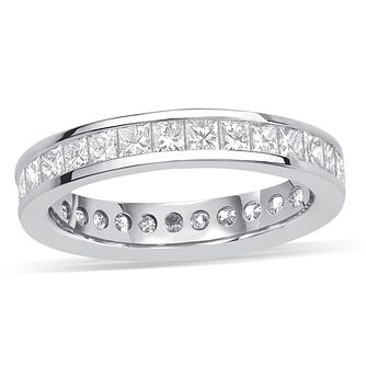 18ct white gold 2 carat diamond eternity ring - Product number 8939225