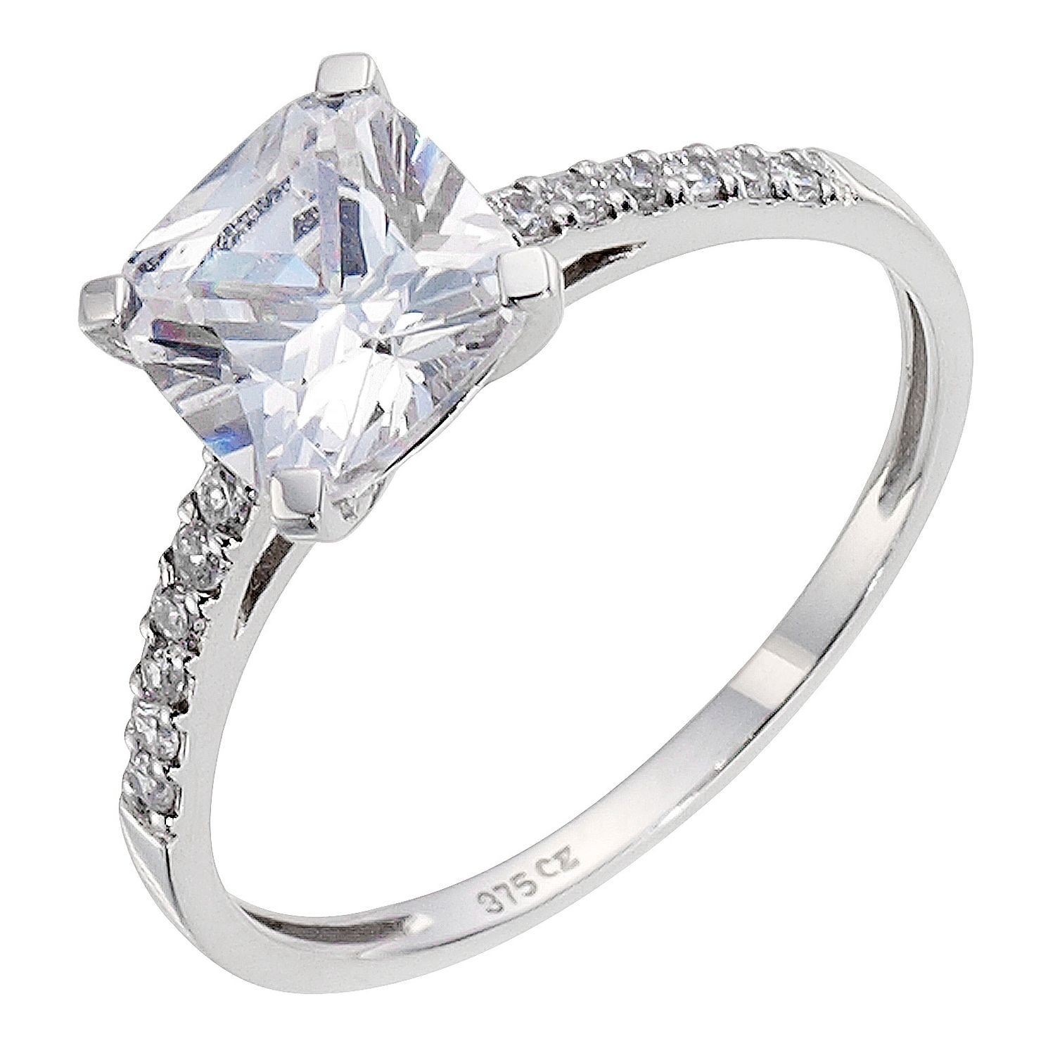 jewellery sterling white cubic in ring zirconia with jewelry silver