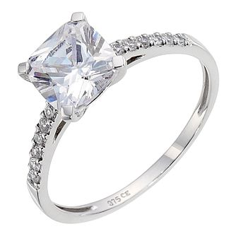9ct White Gold Cubic Zirconia Ring - Product number 8941416