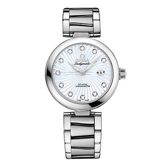 Omega De Ville Ladymatic diamond set bracelet watch - Product number 8947058