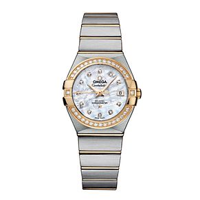Omega Constellation ladies' two colour bracelet watch - Product number 8947538