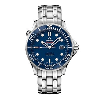 Omega Seamaster Diver 300M men's blue dial bracelet watch - Product number 8947627