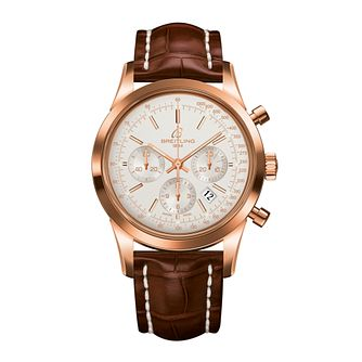 Breitling Transocean Chronograph men's brown strap watch - Product number 8950237