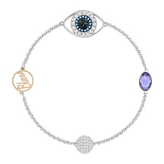 Swarovski Remix Ladies' Rhodium and Mixed Crystal Bracelet - Product number 8953376