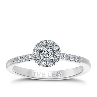 Leo Diamond Platinum 0.33ct Diamond Halo Ring - Product number 8954542