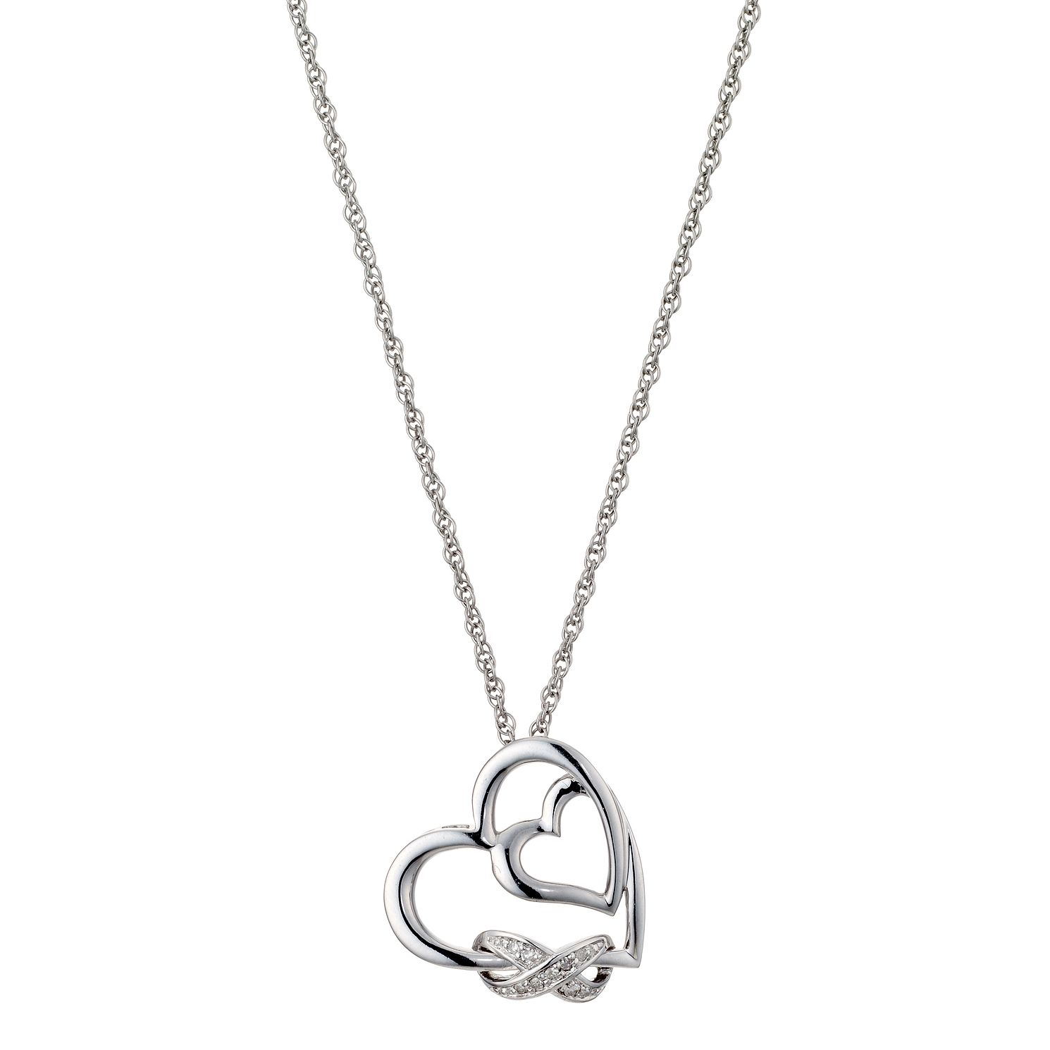 affinity pendant c cttw heart pink natural qvc diamond n chain jewelry with chocolate com necklace