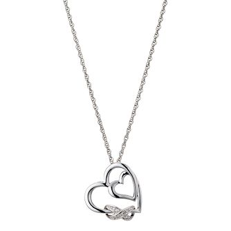 Diamond & Silver Kiss Pendant Necklace - Product number 8956227