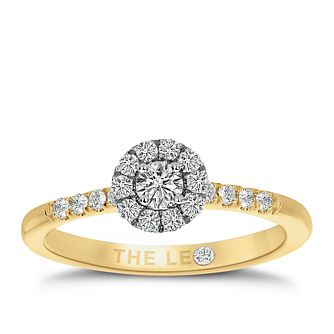 Leo Diamond 18ct Yellow Gold 0.33ct Diamond Halo Ring - Product number 8956367