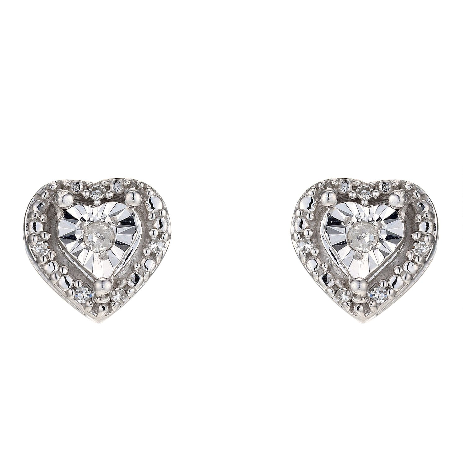 diamond earrings platinum rectangular stud shape fancy shield