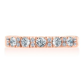 Leo Diamond 18ct Rose Gold 1/2ct Diamond Eternity Ring - Product number 8957444