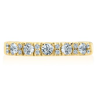 Leo Diamond 18ct Yellow Gold 1/2ct Diamond Eternity Ring - Product number 8958378