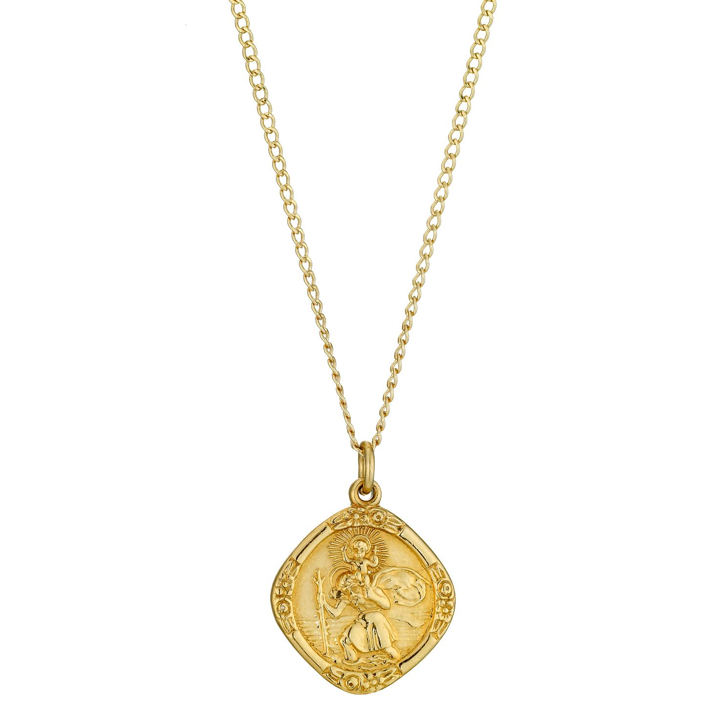 Rolled gold diamond shaped st christopher pendant hmuel rolled gold diamond shaped st christopher pendant product number 8974667 aloadofball Image collections