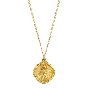 Rolled Gold Diamond Shaped St. Christopher Pendant - Product number 8974667