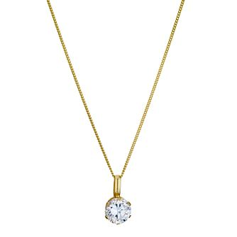 9ct Yellow Gold Cubic Zirconia Pendant - Product number 8974748