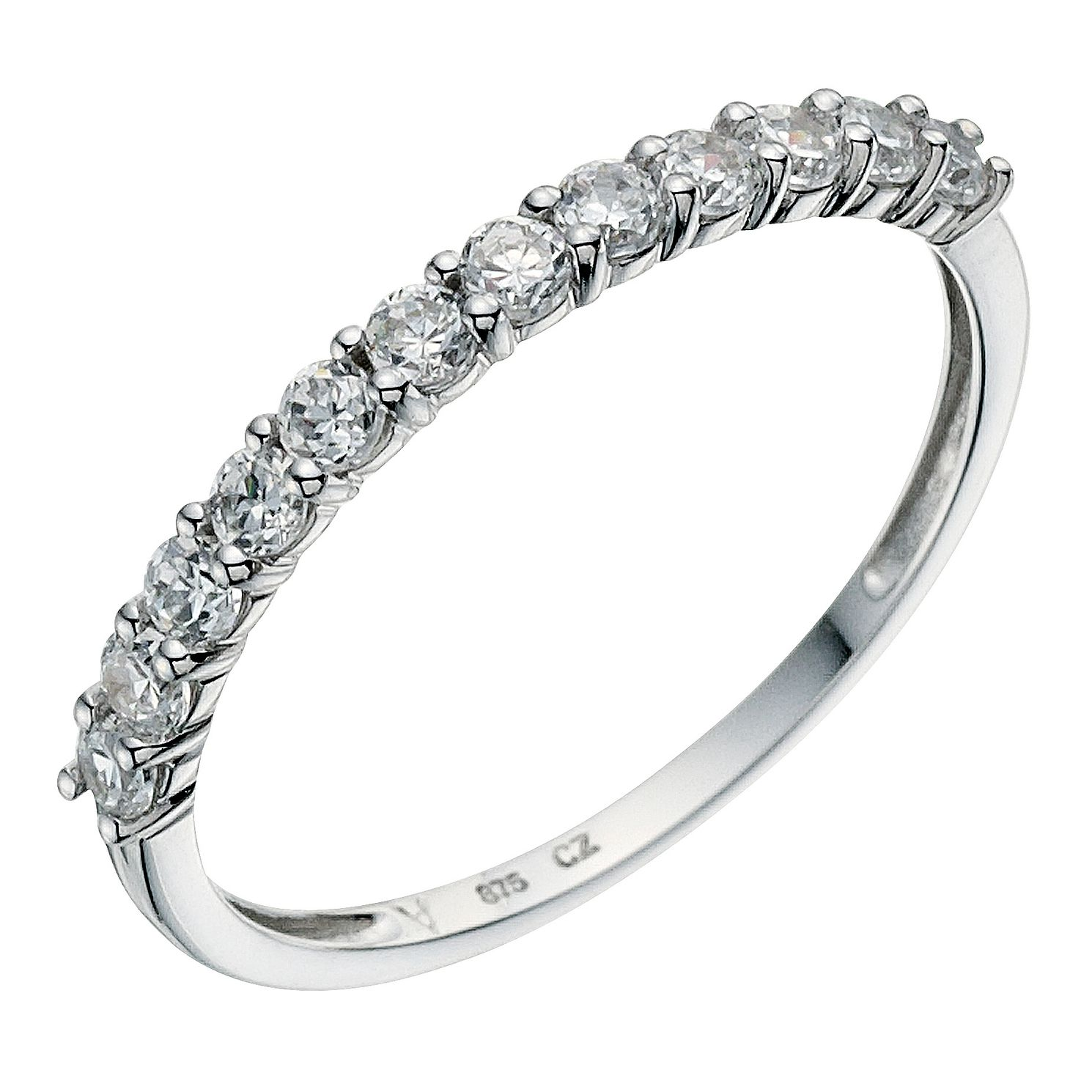 crislu bands solitaire band ring eternity cubic zirconia