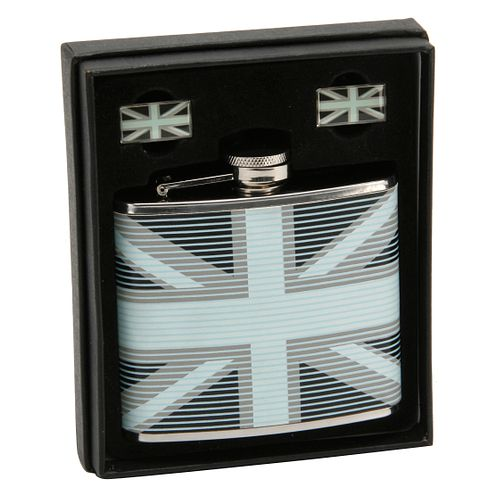 Union Jack Flask & Cufflinks Set - Product number 8997497