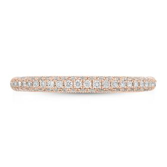 Neil Lane 14ct Rose Gold 0.37ct Diamond Wedding Band - Product number 9012826