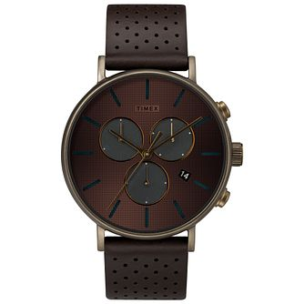 Timex Fairfield Supernova Men's Brown Strap Watch - Product number 9016929