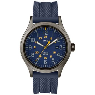 Timex Allied Men's Brass Blue Rubber Strap Watch - Product number 9017453