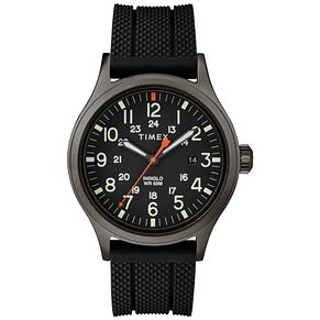 Timex Allied Men's Black Resin Strap Watch - Product number 9017461