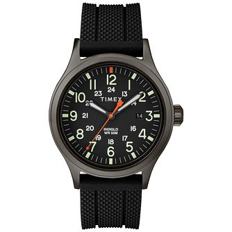 Timex Allied Men's Brass Black Rubber Strap Watch - Product number 9017461