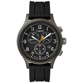 Timex Allied Men's Brass Black Rubber Strap Watch - Product number 9017585