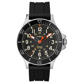 Timex Allied Coast Men's Brass Black Strap Watch - Product number 9017607