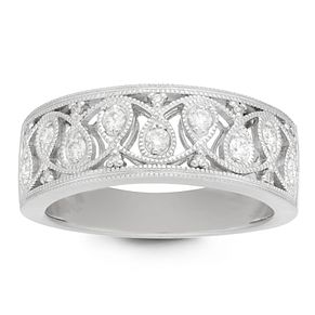 Neil Lane 14ct White Gold 0.20ct Vintage Diamond Ring - Product number 9019030