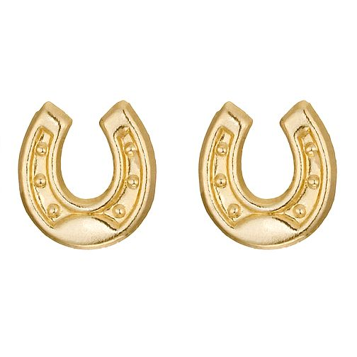9ct Yellow Gold Horseshoe Stud Earrings - Product number 9020446