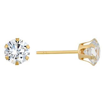 9ct Yellow Gold Cubic Zirconia Stud Earrings - Product number 9020594