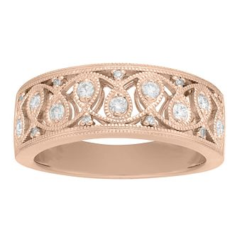 Neil Lane 14ct Rose Gold 0.20ct Vintage Diamond Ring - Product number 9022953