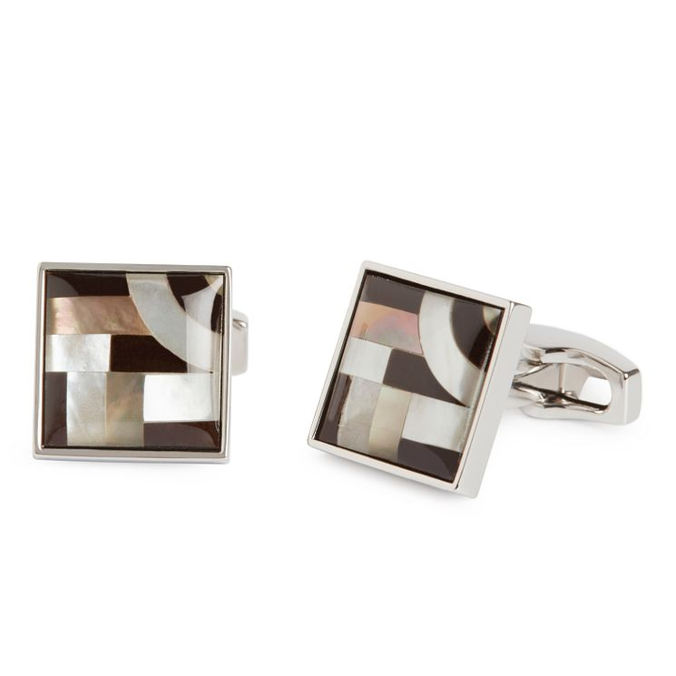 Simon Carter men's onyx & mother of pearl cufflinks - Product number 9028471