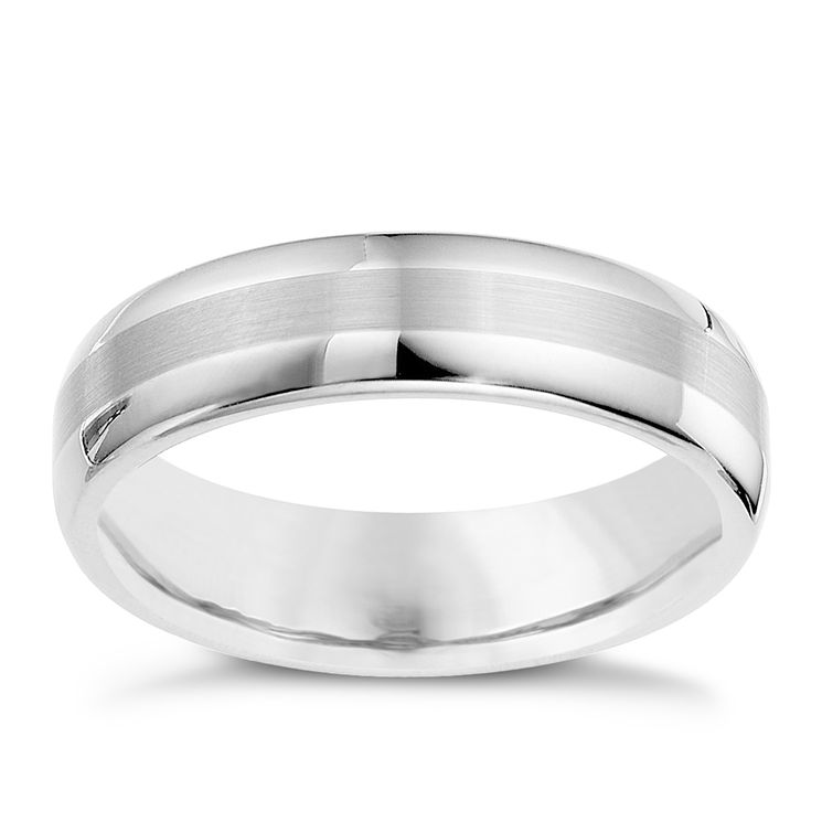 Tungsten two tone strip ring - Product number 9029737