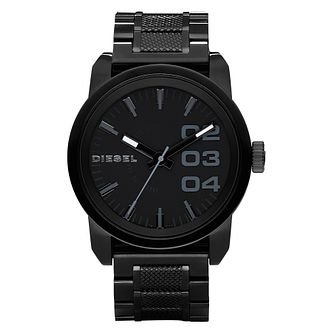 Diesel Mens Double Down Black Dial & Bracelet Watch - Product number 9037403