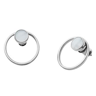 Skagen Agenethe Ladies' Mother of Pearl Stud Earrings - Product number 9040889